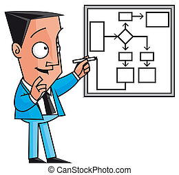 Business strategy - Isolated illustration Business strategy