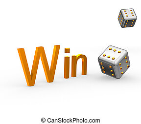 Win&cube - Picture with the image of two playing cubes on...