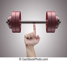 Weight Lifting - Weight lifting with just one finger....