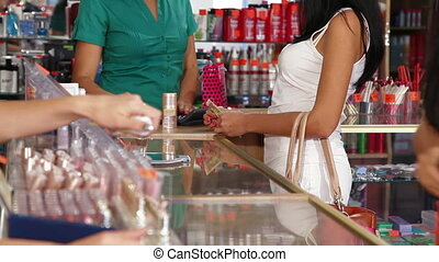 Paying For Beauty Care Products