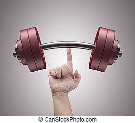 Weight Lifting - Weight lifting with just one finger Concept...