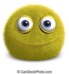 yellow alien - furry monster