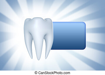 Teeth background and sticker