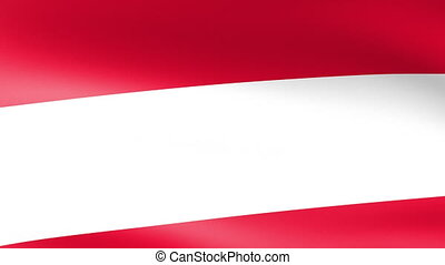 Austria Flag Waving
