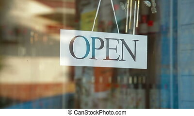 Going Out Of Business - Business owner puts up Out Of...