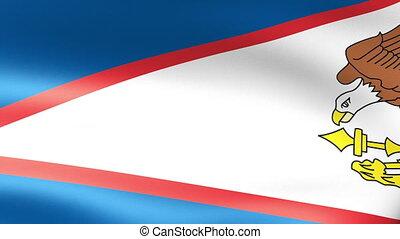 American Samoa Flag Waving