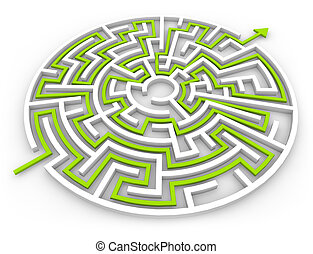 labyrinth 2 - 3d render of a labyrinth