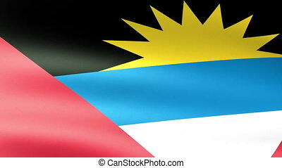 Antigua and Barbuda Flag Waving
