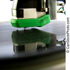 Macro Record - Moving picture of needle in the groove Moving...