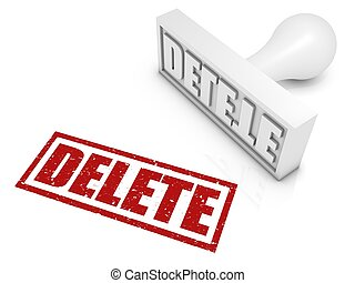 Delete Rubber Stamp