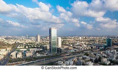 Tel Aviv Cityscape Time Lapse - Tel Aviv Aerial View...