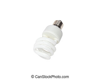 Power saving spiral lamp Isolated over white