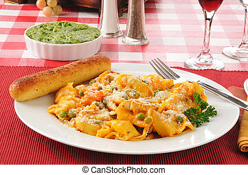 Tortellini with parmesan cheese