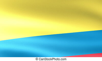 Colombia Flag Waving