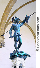Statue of Perseus slaying Medusa. Florence - Statue of...