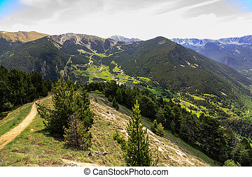 Pyrenees the beauty of Andorra - Green forested mountains...