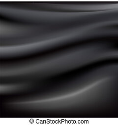 Black Abstract Cloth With Of Silk Texture, Vector...