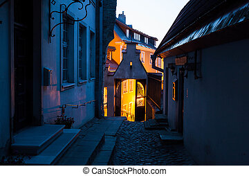 Night in the Old Town of Tallinn