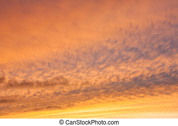 Dramatic sunset with golden clouds - Dramatic sunset like...