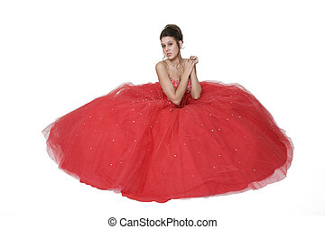 Belle of the Ball - Teenage girl posing in her...