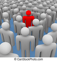 standing out from the crowd - 3d concept standing out from...