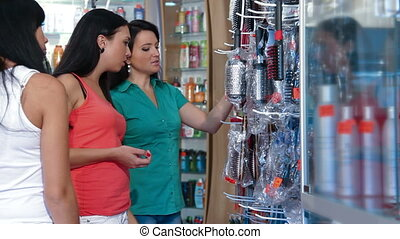 Shopping in Cosmetics Store - Women Shopping in Cosmetics...