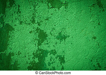 Green plaster background wall