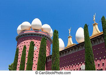 Salvador Dali museum in Figueras, Spain - Salvador Dali...