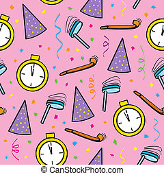 Seamless New Years Eve - A seamless pattern of New Years Eve...