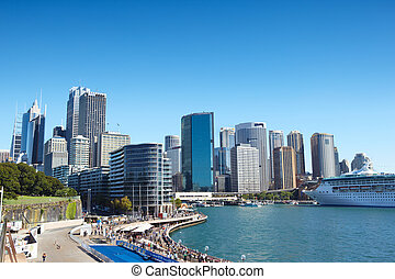 Sydney CBD - Sydney, Australia - April 13th, 2012 : Sydney...