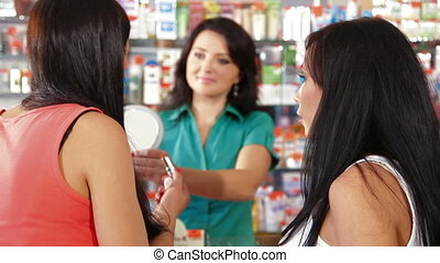 Women Shopping for Makeup Products
