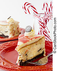 Peppermint Cheesecake - Traditional Christmas White...