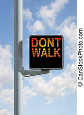 Don\\\'t Walk - A don\\\'t walk sign