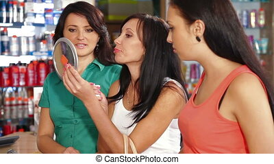 Female Customers Choosing Cosmetics