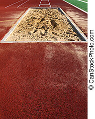Track & Field Long Jump Sand Pit with room for copy