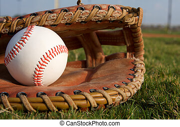 Baseball in a Glove - New Baseball in a Glove