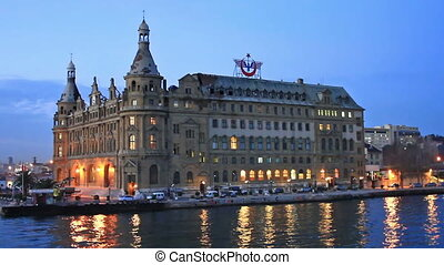 Haydarpasa Station Building at night