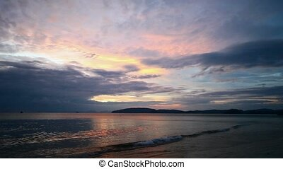 Calm ocean after sunset