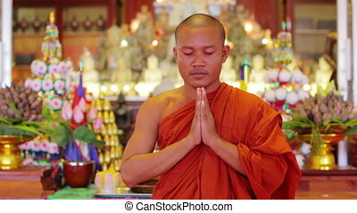 buddhist monk in temple