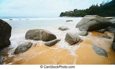 Surf on a tropical beach. Thailand,