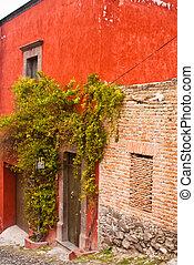 Red Adobe House