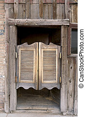 Western Swinging Doors - Old Western Swinging Saloon Doors