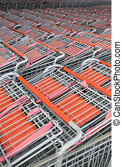 Rows of Shopping Carts