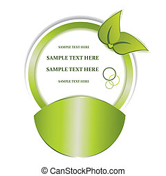 Vector green sticker for your design