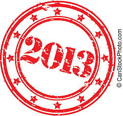 Grunge happy new 2013 year, vector