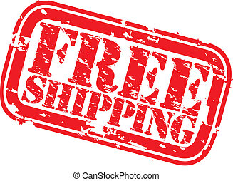 Grunge free shipping rubber stamp, vector