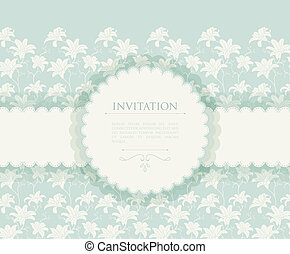 Invitation - Vector illustration of Invitation