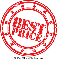 Grunge best price rubber stamp, vector