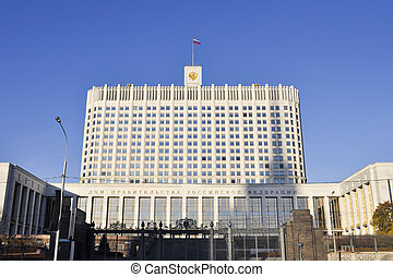 Russian White House is a main government building in Moscow,...