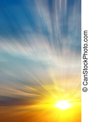 Motion effect to the sun - Abstract sunset Motion effect to...